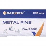 Кнопки «Darvish» никелированные, 100 шт.