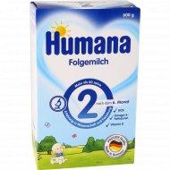 Сухая молочная смесь «Humana 2» для детей с 6 до 12 месяцев, 600 г.