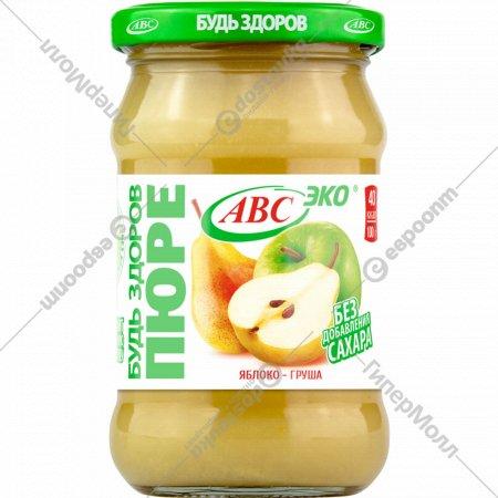 Пюре яблочно-грушевое «Будь здоров» 280 г.