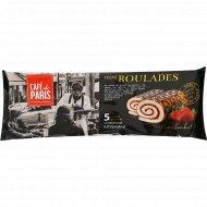 Мини рулеты бисквитные «Cafe De Paris» со вкусом клубники, 140 г.