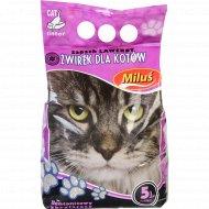 Наполнитель для кошачьего туалета «Milus» лаванда, 5 л.