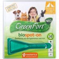 БиоКапли «GreenFort neo» для кошек, кроликов и собак до 10 кг.