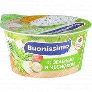 Сыр с творогом «Buonissimo» с зеленью и чесноком, 120 г.