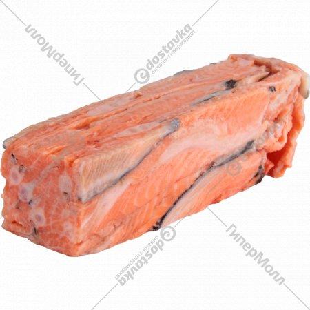 Рыба свежемороженая «Лосось» хребты, 1 кг., фасовка 0.5-0.9 кг