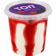 Мороженое с ароматом йогурта «Топ» с топпингом плодово-ягодным, 250 г.