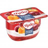 Десерт творожный воздушный «Чудо» вишня-черешня 4%, 100г.