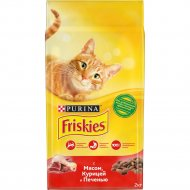 Корм для кошек «Friskies» с мясом, курицей и печенью 2 кг.