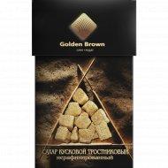 Сахар кусковой «Golden Brawn» тростниковый нерафинированный, 500 г.
