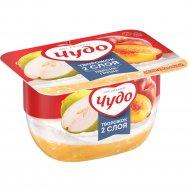 Десерт творожный взбитый «Творожок» персик-груша 4.2%, 100 г.