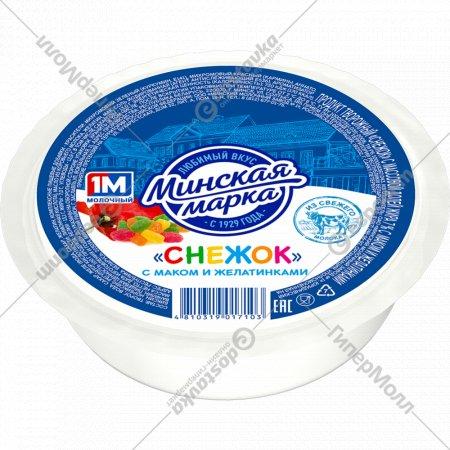 Продукт творожный «Снежок» с маком и желатинками, 7%, 400 г.