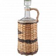 Бутылка «Ностальгия» оплетенная прутьями лозы, 3 л.