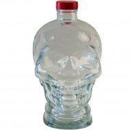 Бутылка «Череп» из бесцветного стекла с пробкой, 1 л.
