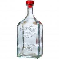 Бутылка «Штоф» из бесцветного стекла с пробкой, 1.2 л.