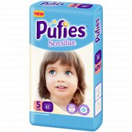 Подгузники для детей «Pufies» Sensitive Junior 62.