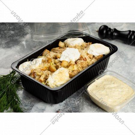 Салат «Цезарь» с курицей и яйцом пашот, 1/1000/150 г.