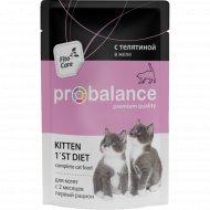 Корм для котят «ProBalance» 1'st Diet c телятиной в желе, 85 г.
