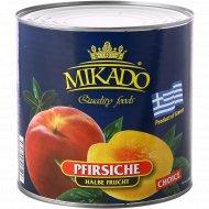 Персики консервированные «Mikado» половинки, 2500 г.