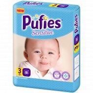 Подгузники для детей «Pufies» Sensitive Midi 88.