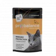 Корм для кошек «ProBalance» c говядиной в соусе, 85 г.