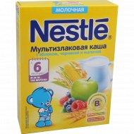 Каша молочная «Nestle» с яблоком, черникой и малиной, 220 г.