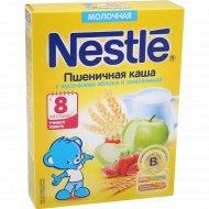 Каша пшеничная «Nestle» с кусочками яблока и земляникой, 220 г.