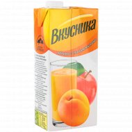 Напиток сокосодержащий «Вкусника» абрикос-персик-яблоко, 0.95 л.