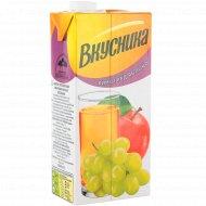 Напиток сокосодержащий «Вкусника» виноградно-яблочный, 0.95 л.