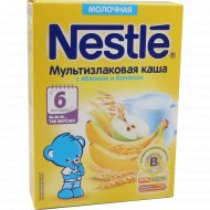 Каша мультизлаковая молочная «Nestle» с яблоком и бананом, 220 г.