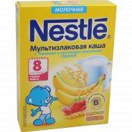 Каша «Nestle» с бананом и кусочками земляники садовой, 220 г.
