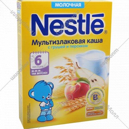 Каша мультизлаковая молочная «Nestle» с грушей и персиком, 220 г.