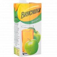 Напиток сокосодержащий «Вкусника» яблочный, 0.95 л.