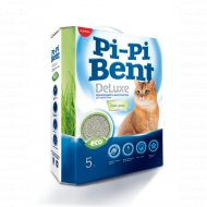 Наполнитель «Pi-Pi-Bentc» Deluxe Fresh Grass, бентонит, 5 кг.