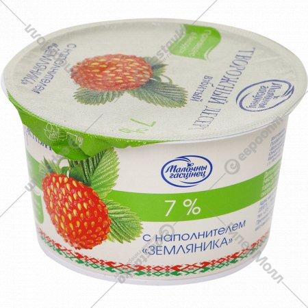 Десерт творожный с наполнителем «Земляника» взбитый 7% 125 г.