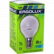 Лампа светодиодная «Ergolux» холодный свет, Е14, 7 Вт.
