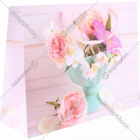 Пакет подарочный «Цветы» 32х25х11 см