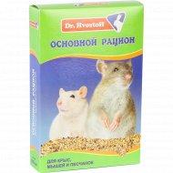 Корм «Dr.Hvostof» основной рацион для крыс, мышей и песчанок, 600 мл.