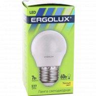 Лампа светодиодная «Ergolux» теплый свет, Е27, 7 Вт.