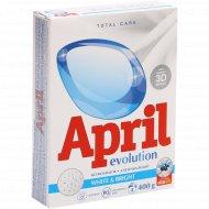 Средство моющее синтетическое «April» white & bright, 400 г.