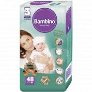 Подгузники детские «Bambino» midi, размер 3, 4-9 кг, 48 шт.