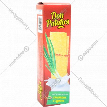 Чипсы картофельные «Don Potato's» со вкусом сметаны с луком 100 г.
