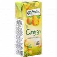 Сок с мякотью «Galicia» смузи яблоко-груша, 0.2 л.