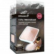 Соль гималайская «Organico» XS, розовая темная каменная, 500 г.