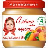 Пюре «Алёнка любит» персик, 80 г.