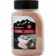 Соль гималайская «Organico» М, розовая темная в солонке, 650 г.