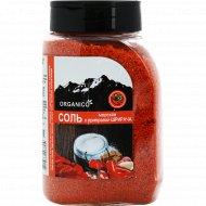 Соль морская запеченная с приправой шрирача «Organico» 600 г.
