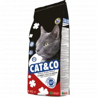 Корм для котов «Cat&Co» говядина с цыпленком, 2000 г.