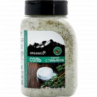 Соль морская запеченная с тимьяном «Organico» в солонке, 600 г.