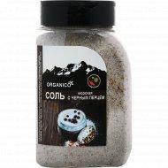 Соль морская запеченная с черным перцем «Organico» 600 г.