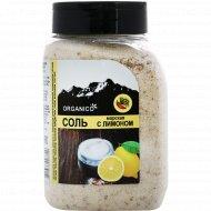 Соль морская запеченная с лимоном «Organico» в солонке, 600 г.