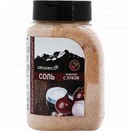 Соль морская запеченная с луком «Organico» в солонке, 600 г.